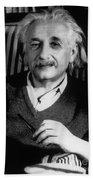 Albert Einstein, German-american Beach Towel