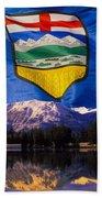 Albertas Rocky Mountains Beach Towel
