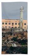 Alcatraz Island Lighthouse - San Francisco California  Beach Towel