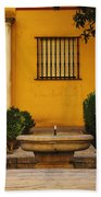 Alcazar Fountain In Spain Beach Towel