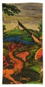 Alchemical Knight Slays The Primordial Beach Towel by Science Source