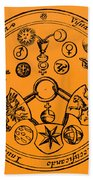 Alchemical Symbols, 1670 Beach Towel