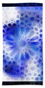 Alhambra Pattern Blue Beach Towel