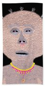 Alien  Lifeform From  Stucco  World  -  One Beach Towel