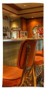 All American Diner 3 Beach Towel by Bob Christopher