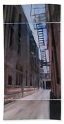 Alley With Fire Escape Layered Beach Towel