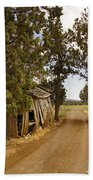 Almost A Pile Of Wood Barn Vertical Beach Towel