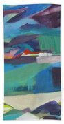 Almost Abstract Painting Beach Towel