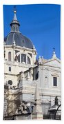 Almudena Cathedral In Madrid Beach Towel