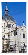 Almudena Cathedral In Madrid Beach Sheet