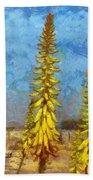 Aloe Vera Flowers Beach Towel
