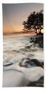Alone With The Sea Beach Towel by Mike  Dawson