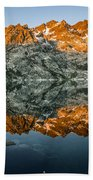 Alpenglow At Upper Sardine Lake Beach Towel