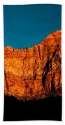 Alpenglow In Zion Canyon Beach Towel