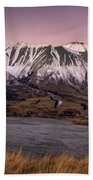 Alpenglow Over The Clyde River Beach Towel