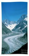Alpine Glacier Beach Towel