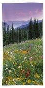 Alpine Wildflower Meadow, Mount Beach Towel