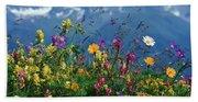 Alpine Wildflowers Beach Towel