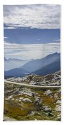 Alps And Road Beach Towel