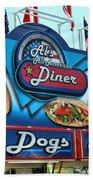 Al's All American Diner Beach Towel