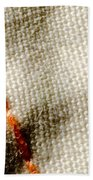 Amber Stitch Study Of Threads Up Close Beach Towel