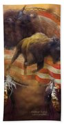 American Buffalo Beach Towel by Carol Cavalaris