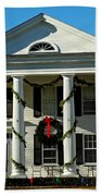 American Colonial Architecture Christmas  Beach Towel