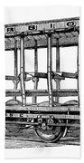 American: Streetcar, 1880s Beach Towel