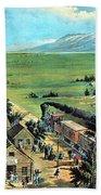 American Transcontinental Railroad Beach Towel