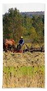 Amish Farming Beach Towel