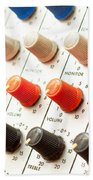 Amplifier Dials Beach Towel by Tom Gowanlock