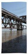 Amtrak Train Riding Atop The Benicia-martinez Train Bridge In California - 5d18830 Beach Towel