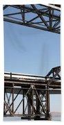 Amtrak Train Riding Atop The Benicia-martinez Train Bridge In California - 5d18835 Beach Towel