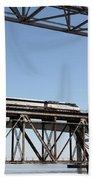 Amtrak Train Riding Atop The Benicia-martinez Train Bridge In California - 5d18837 Beach Towel