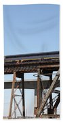Amtrak Train Riding Atop The Benicia-martinez Train Bridge In California - 5d18839 Beach Towel