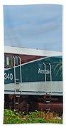 Amtraks Cascade Engine Beach Towel