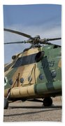An Afghan Air Force Mi-17 Helicopter Beach Towel