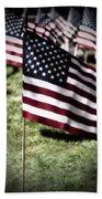 An American Flag Beach Towel