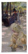 An August Afternoon At The Luxembourg Beach Towel by Henri-edmond Cross