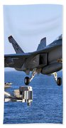 An Fa-18f Super Hornet Takes Beach Towel