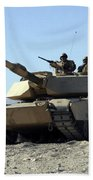 An M1a1 Main Battle Tank Beach Towel