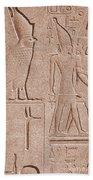 Ancient Stone Carvings, Karnak, Egypt Beach Towel