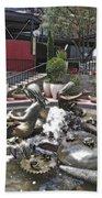 Andrea's Fountain At Ghirardelli Square Beach Towel