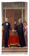 Andrew Jackson At The First Capitol Inauguration - C 1829 Beach Towel