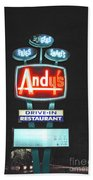Andy's Drive-in Beach Towel