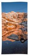 Angel Lake Alpenglow Beach Towel
