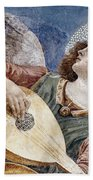 Angel With A Lute Beach Towel