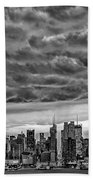 Angry Skies Over Nyc Beach Towel