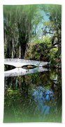 Another White Bridge In Magnolia Gardens Charleston Sc II Beach Towel