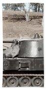 Anti-aircraft Guns Mounted On An M109 Beach Towel